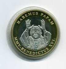 Medaille Habemus Papam MMV - Benedictus XVI Papst Benedikt XVI M_358