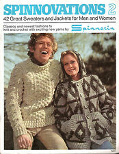 Vintage Knitting Patterns Pullovers Ponchos Coats Sweaters Jackets Men Women 70s