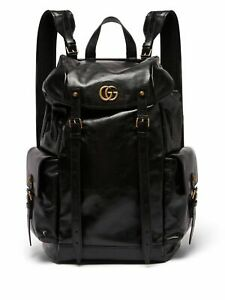 GUCCI MARMONT LIBER RE(BELLE) Black Leather Large Backpack Rusksack BNWT