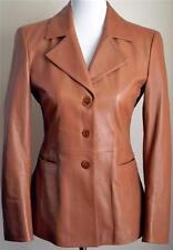 Giorgio Armani Collezioni Italy Brown Tan 100% Lambskin Leather Blazer/Coat 4/6