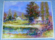 "ALEX PEREZ- LRG. ORIG. OIL ON CANVAS-""QUIET SUNNY CORNER""- ARTIST COA"