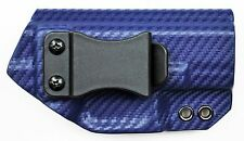Smith & Wesson SD9VE/SD40VE IWB Appendix/Conceal Carry Kydex Gun Holster Blue CF