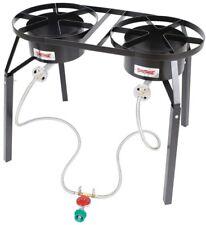 Double-Burner High-Pressure Cast Iron Outdoor Cooker Extension Legs 100,000 BTU