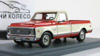 Scale model car 1:43 CHEVROLET C10 Red/White 1971