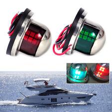 2X LED Lampe de navigation 12V Vert rouge Lumière acier inoxydable Bateau Marine
