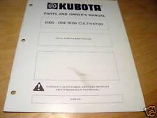Kubota B300 Cultivator Operators Amp Parts Manual