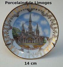 assiette porcelaine de Limoges,Jammet Seignolles collection,Basilique Lourdes T3