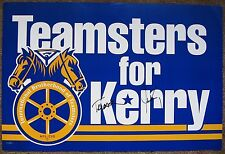 Signed JOHN & TERESA KERRY Campaign POSTER In-Person 2004 President Autograph