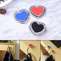 High Quality  Heart DIY Folding Purse Bag Handbag Hook Hanger Holder Alloy BH
