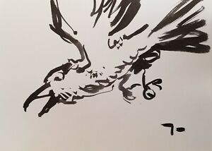 """JOSE TRUJILLO Collectible Piece ABSTRACT EXPRESSIONISM INK WASH 18X24"""" DECOR"""