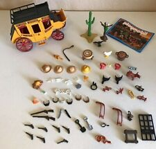 Playmobil Western Themed Toy Lot Various Parts Pieces Cowboys