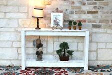 WHITE RUSTIC ENTRY TABLE 46''