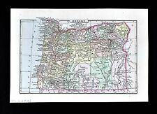 1896 Johnson Map - Oregon - Portland Eugene Salem Astoria Klamath Falls Mt. Hood