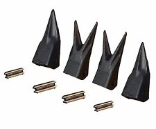 Set ot 4 - Backhoe / Mini Excavator Twin/Single Tiger Teeth w/ pins 23TL , 23WTL