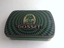 Ancienne boite publicitaire métal Cigarettes Tabac Gosset
