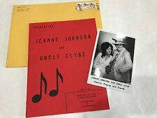 5 x 7 Photo Autographed RARE Jeanne Johnson & Uncle Clyde