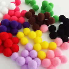 100 PCS Wool Felt Ball Handmade Pom Pom Garland Kids Room Decor Hanging Ornament