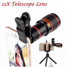 12 x óptico Zoom HD cámara telescopio lente con Clip para iPhone/Samsung Galaxy