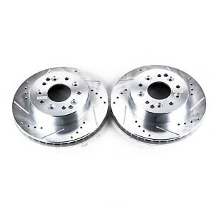 Disc Brake Rotor Set-Drilled, Slotted and Zinc Plated Brake Rotors Rear,Front