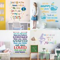 Color Inspirational Wall Stickers English Letter Vinyl Decal PVC Kids Room Decor