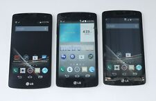 Lot of 3 Working LG Optimus / Tribute Android Smartphones for Boost Mobile