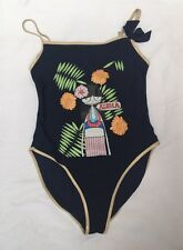 LITTLE MARC JACOBS Navy Aloha One-Piece Bathing Swim Suit $86- Sz 12