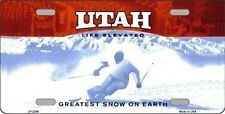 """Utah State Background Blank Novelty 6"""" x 12"""" Metal License Plate Sign"""