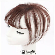 Hot Human Hair Handwoven Air Bangs Thin Fringe Pieces Extensions For Women