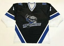 Vintage Danbury Trashers #4 UHL Hockey Jersey XXL Black