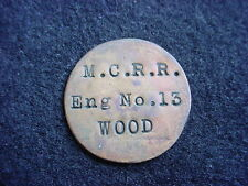 Michigan Central Railroad Wood Cord Token For Engine Number 13