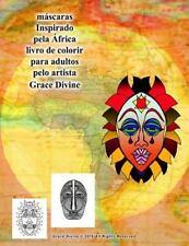 Máscaras Inspirado Pela África Livro de Colorir para Adultos Pelo Artista...