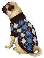 NEW Size XS Blue Argyle Prep Turtleneck Dog Sweater Dog Clothes Pet Zack & Zoey
