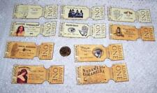 Halloween~Vintage~Fortune Teller~Gypsy~Palmistry~Psychic~Linen Cardstock~Tickets