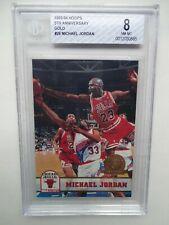 MICHAEL JORDAN BGS BECKETT 8 NM-MT 1993-94 HOOPS GOLD 5TH ANNIV #28  BULLS