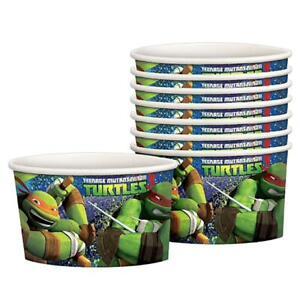 TMNT Teenage Mutant Ninja Turtles Snack Treat Cups Birthday Party Supplies 8 Ct