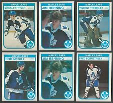 1982-83 OPC TORONTO MAPLE LEAFS JIM BENNING ROOKIE CARD + 5 LOT NRMINT CONDITION