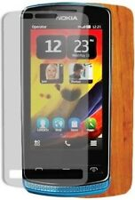 Skinomi Light Wood Full Body Phone Skin+Screen Protector Cover for Nokia 700