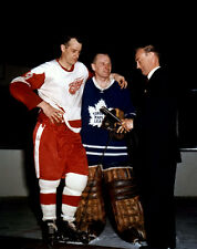Jonny Bower, Gordie Howe Toronto Detroit 8x10 Photo