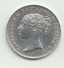 More details for 1852 silver threepence 3d queen victoria great britain.