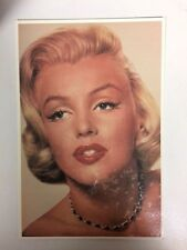 80s Postcard - Marilyn Monroe 1952 colour close up in black necklace