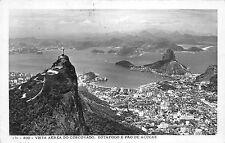 B95026 rio brasil vista aerea do corcovado real photo botafogo e pao  de acucar
