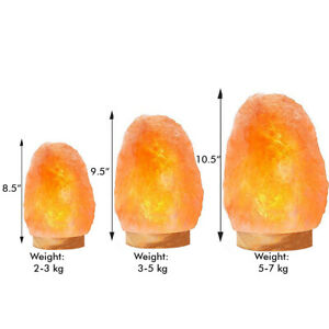Natural Himalayan Salt Lamp 100% Authentic With Bulb & UK Plug, Pink Salt Lamps