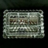 Fostoria American Clear Dresser Tray Four Compartment Divided Relish