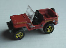 Matchbox Jeep Willys mattrot Geländewagen Auto Allrad 4x4 Oldtimer Mattel MBX