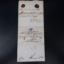 """1665 LETTRE COVER PRÉCURSEUR RECOMMANDÉ """"NB"""" (NOTA BENE) + """"CITO"""" MANUSCRIT RARE"""