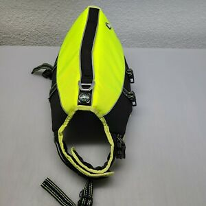 Arcadia Trail Pet Flotation Device Neon  Yellow And Black Small Dog Life Vest