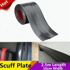 2.5m 10cm Carbon Fiber Style Car Scuff Plate Door Cover Panel Step Protector