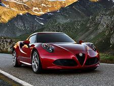 "24"" x 16"" Poster 2013 Alfa Romeo 4C 970 Supercar"