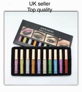 Set 10PCS Long-lasting Metallic Sparkling Glitter Liquid Eyeliner Party Makeup