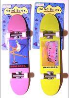 Lot of 2 HANDBROS Handboards 10 inch hand skateboard tech 27cm finger toy W GRIP